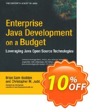 Enterprise Java Development on a Budget (Sam-Bodden) 프로모션 코드 Enterprise Java Development on a Budget (Sam-Bodden) Deal 프로모션: Enterprise Java Development on a Budget (Sam-Bodden) Exclusive Easter Sale offer for iVoicesoft