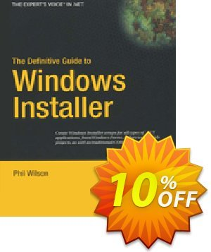 The Definitive Guide to Windows Installer (Wilson) Coupon discount The Definitive Guide to Windows Installer (Wilson) Deal. Promotion: The Definitive Guide to Windows Installer (Wilson) Exclusive Easter Sale offer for iVoicesoft