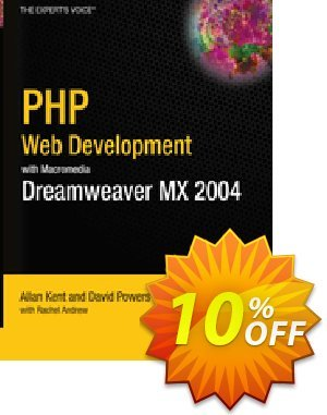 PHP Web Development with Macromedia Dreamweaver MX 2004 (Powers) discount coupon PHP Web Development with Macromedia Dreamweaver MX 2004 (Powers) Deal - PHP Web Development with Macromedia Dreamweaver MX 2004 (Powers) Exclusive Easter Sale offer for iVoicesoft