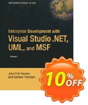 Enterprise Development with Visual Studio .NET, UML, and MSF (Hansen) discount coupon Enterprise Development with Visual Studio .NET, UML, and MSF (Hansen) Deal - Enterprise Development with Visual Studio .NET, UML, and MSF (Hansen) Exclusive Easter Sale offer for iVoicesoft