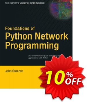 Foundations of Python Network Programming (Goerzen) Coupon discount Foundations of Python Network Programming (Goerzen) Deal. Promotion: Foundations of Python Network Programming (Goerzen) Exclusive Easter Sale offer for iVoicesoft