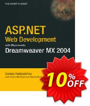 ASP.NET Web Development with Macromedia Dreamweaver MX 2004 (Marshall) discount coupon ASP.NET Web Development with Macromedia Dreamweaver MX 2004 (Marshall) Deal - ASP.NET Web Development with Macromedia Dreamweaver MX 2004 (Marshall) Exclusive Easter Sale offer for iVoicesoft
