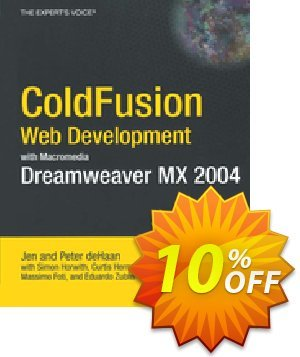 ColdFusion Web Development with Macromedia Dreamweaver MX 2004 (de Haan) 프로모션 코드 ColdFusion Web Development with Macromedia Dreamweaver MX 2004 (de Haan) Deal 프로모션: ColdFusion Web Development with Macromedia Dreamweaver MX 2004 (de Haan) Exclusive Easter Sale offer for iVoicesoft