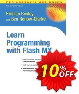 Learn Programming with Flash MX (Renow-Clarke) 優惠券,折扣碼 Learn Programming with Flash MX (Renow-Clarke) Deal,促銷代碼: Learn Programming with Flash MX (Renow-Clarke) Exclusive Easter Sale offer for iVoicesoft