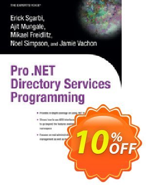 Pro .NET Directory Services Programming (Freidlitz) discount coupon Pro .NET Directory Services Programming (Freidlitz) Deal - Pro .NET Directory Services Programming (Freidlitz) Exclusive Easter Sale offer for iVoicesoft