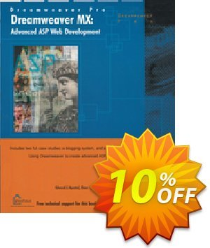 Dreamweaver MX: Advanced ASP Web Development (Apostol) discount coupon Dreamweaver MX: Advanced ASP Web Development (Apostol) Deal - Dreamweaver MX: Advanced ASP Web Development (Apostol) Exclusive Easter Sale offer for iVoicesoft
