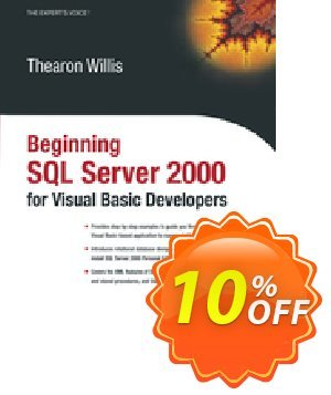 Beginning SQL Server 2000 for Visual Basic Developers (Willis) discount coupon Beginning SQL Server 2000 for Visual Basic Developers (Willis) Deal - Beginning SQL Server 2000 for Visual Basic Developers (Willis) Exclusive Easter Sale offer for iVoicesoft