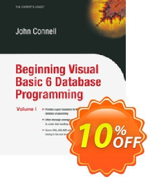 Beginning Visual Basic 6 Database Programming (Connell) discount coupon Beginning Visual Basic 6 Database Programming (Connell) Deal - Beginning Visual Basic 6 Database Programming (Connell) Exclusive Easter Sale offer for iVoicesoft