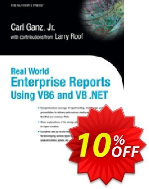 Real World Enterprise Reports Using VB6 And VB .NET (Ganz) discount coupon Real World Enterprise Reports Using VB6 And VB .NET (Ganz) Deal - Real World Enterprise Reports Using VB6 And VB .NET (Ganz) Exclusive Easter Sale offer for iVoicesoft