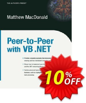 Peer-to-Peer with VB .NET (MacDonald) 프로모션 코드 Peer-to-Peer with VB .NET (MacDonald) Deal 프로모션: Peer-to-Peer with VB .NET (MacDonald) Exclusive Easter Sale offer for iVoicesoft