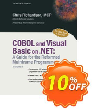 COBOL and Visual Basic on .NET (Richardson)割引コード・COBOL and Visual Basic on .NET (Richardson) Deal キャンペーン:COBOL and Visual Basic on .NET (Richardson) Exclusive Easter Sale offer for iVoicesoft