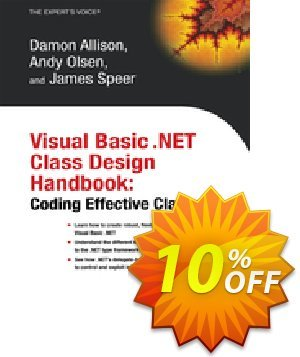 Visual Basic .NET Class Design Handbook (Olsen) discount coupon Visual Basic .NET Class Design Handbook (Olsen) Deal - Visual Basic .NET Class Design Handbook (Olsen) Exclusive Easter Sale offer for iVoicesoft