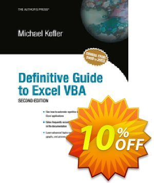Definitive Guide to Excel VBA (Kofler) discount coupon Definitive Guide to Excel VBA (Kofler) Deal - Definitive Guide to Excel VBA (Kofler) Exclusive Easter Sale offer for iVoicesoft