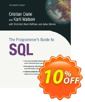 The Programmer's Guide to SQL (Darie) discount coupon The Programmer's Guide to SQL (Darie) Deal - The Programmer's Guide to SQL (Darie) Exclusive Easter Sale offer for iVoicesoft