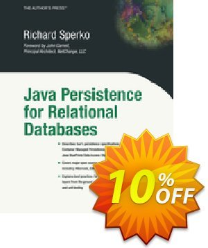 Java Persistence for Relational Databases (Sperko) discount coupon Java Persistence for Relational Databases (Sperko) Deal - Java Persistence for Relational Databases (Sperko) Exclusive Easter Sale offer for iVoicesoft