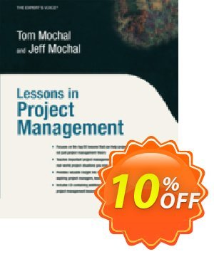 Lessons in Project Management (Mochal) discount coupon Lessons in Project Management (Mochal) Deal - Lessons in Project Management (Mochal) Exclusive Easter Sale offer for iVoicesoft