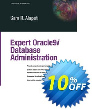Expert Oracle9i Database Administration (Alapati) discount coupon Expert Oracle9i Database Administration (Alapati) Deal - Expert Oracle9i Database Administration (Alapati) Exclusive Easter Sale offer for iVoicesoft