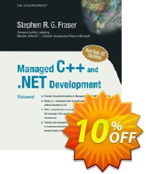 Managed C++ and .NET Development (Fraser) Coupon discount Managed C++ and .NET Development (Fraser) Deal. Promotion: Managed C++ and .NET Development (Fraser) Exclusive Easter Sale offer for iVoicesoft