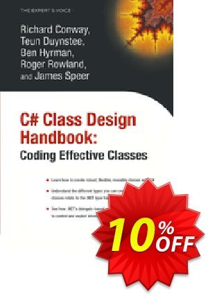 C# Class Design Handbook (Conway) discount coupon C# Class Design Handbook (Conway) Deal - C# Class Design Handbook (Conway) Exclusive Easter Sale offer for iVoicesoft