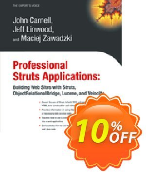 Professional Struts Applications (Carnell) 프로모션 코드 Professional Struts Applications (Carnell) Deal 프로모션: Professional Struts Applications (Carnell) Exclusive Easter Sale offer for iVoicesoft