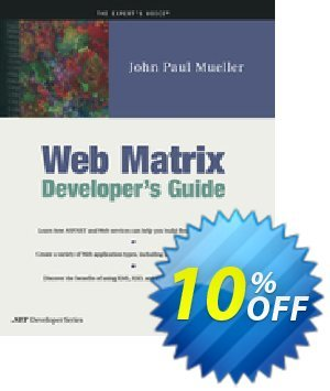 Web Matrix Developer's Guide (Mueller) discount coupon Web Matrix Developer's Guide (Mueller) Deal - Web Matrix Developer's Guide (Mueller) Exclusive Easter Sale offer for iVoicesoft