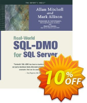 Real-World SQL-DMO for SQL Server (Mitchell) 프로모션 코드 Real-World SQL-DMO for SQL Server (Mitchell) Deal 프로모션: Real-World SQL-DMO for SQL Server (Mitchell) Exclusive Easter Sale offer for iVoicesoft