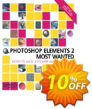 Photoshop Elements 2 Most Wanted (Walsh) Coupon, discount Photoshop Elements 2 Most Wanted (Walsh) Deal. Promotion: Photoshop Elements 2 Most Wanted (Walsh) Exclusive Easter Sale offer for iVoicesoft