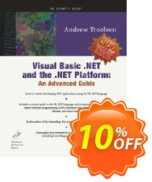 Visual Basic .NET and the .NET Platform (Troelsen) discount coupon Visual Basic .NET and the .NET Platform (Troelsen) Deal - Visual Basic .NET and the .NET Platform (Troelsen) Exclusive Easter Sale offer for iVoicesoft