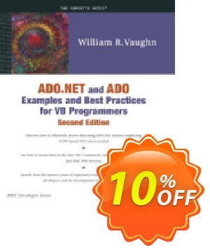 ADO.NET and ADO Examples and Best Practices for VB Programmers (Vaughn) discount coupon ADO.NET and ADO Examples and Best Practices for VB Programmers (Vaughn) Deal - ADO.NET and ADO Examples and Best Practices for VB Programmers (Vaughn) Exclusive Easter Sale offer for iVoicesoft