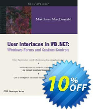 User Interfaces in VB .NET (MacDonald) discount coupon User Interfaces in VB .NET (MacDonald) Deal - User Interfaces in VB .NET (MacDonald) Exclusive Easter Sale offer for iVoicesoft