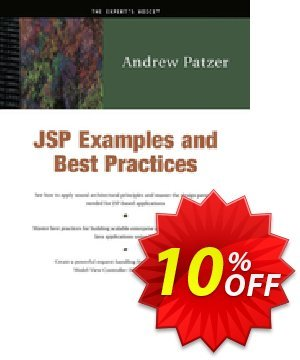 JSP Examples and Best Practices (Patzer) 프로모션 코드 JSP Examples and Best Practices (Patzer) Deal 프로모션: JSP Examples and Best Practices (Patzer) Exclusive Easter Sale offer for iVoicesoft