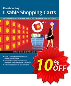 Constructing Usable Shopping Carts (Kerr) Coupon, discount Constructing Usable Shopping Carts (Kerr) Deal. Promotion: Constructing Usable Shopping Carts (Kerr) Exclusive Easter Sale offer for iVoicesoft
