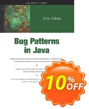 Bug Patterns in Java (Allen) discount coupon Bug Patterns in Java (Allen) Deal - Bug Patterns in Java (Allen) Exclusive Easter Sale offer for iVoicesoft