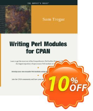 Writing Perl Modules for CPAN (Tregar) discount coupon Writing Perl Modules for CPAN (Tregar) Deal - Writing Perl Modules for CPAN (Tregar) Exclusive Easter Sale offer for iVoicesoft