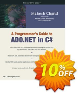 A Programmer's Guide to ADO.NET in C# (Chand) discount coupon A Programmer's Guide to ADO.NET in C# (Chand) Deal - A Programmer's Guide to ADO.NET in C# (Chand) Exclusive Easter Sale offer for iVoicesoft
