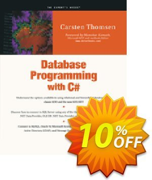 Database Programming with C# (Thomsen) 프로모션 코드 Database Programming with C# (Thomsen) Deal 프로모션: Database Programming with C# (Thomsen) Exclusive Easter Sale offer for iVoicesoft