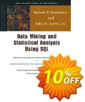 Data Mining and Statistical Analysis Using SQL (Lovett) Coupon, discount Data Mining and Statistical Analysis Using SQL (Lovett) Deal. Promotion: Data Mining and Statistical Analysis Using SQL (Lovett) Exclusive Easter Sale offer for iVoicesoft