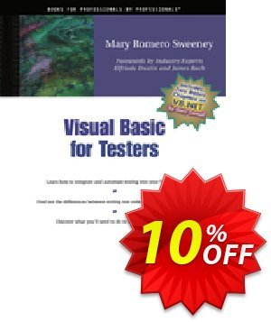 Visual Basic for Testers (Sweeney) discount coupon Visual Basic for Testers (Sweeney) Deal - Visual Basic for Testers (Sweeney) Exclusive Easter Sale offer for iVoicesoft