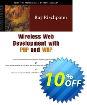Wireless Web Development with PHP and WAP (Rischpater) discount coupon Wireless Web Development with PHP and WAP (Rischpater) Deal - Wireless Web Development with PHP and WAP (Rischpater) Exclusive Easter Sale offer for iVoicesoft