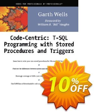 Code Centric: T-SQL Programming with Stored Procedures and Triggers (Wells) Coupon, discount Code Centric: T-SQL Programming with Stored Procedures and Triggers (Wells) Deal. Promotion: Code Centric: T-SQL Programming with Stored Procedures and Triggers (Wells) Exclusive Easter Sale offer for iVoicesoft