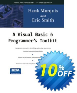 A Visual Basic 6 Programmer's Toolkit (Marquis) Coupon, discount A Visual Basic 6 Programmer's Toolkit (Marquis) Deal. Promotion: A Visual Basic 6 Programmer's Toolkit (Marquis) Exclusive Easter Sale offer for iVoicesoft
