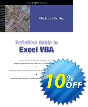 Definitive Guide to Excel VBA (Kofler) 프로모션 코드 Definitive Guide to Excel VBA (Kofler) Deal 프로모션: Definitive Guide to Excel VBA (Kofler) Exclusive Easter Sale offer for iVoicesoft