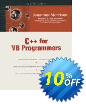 C++ for VB Programmers (Morrison) discount coupon C++ for VB Programmers (Morrison) Deal - C++ for VB Programmers (Morrison) Exclusive Easter Sale offer for iVoicesoft
