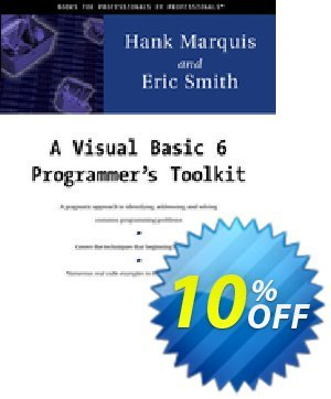 A Visual Basic 6 Programmer's Toolkit (Marquis) discount coupon A Visual Basic 6 Programmer's Toolkit (Marquis) Deal - A Visual Basic 6 Programmer's Toolkit (Marquis) Exclusive Easter Sale offer for iVoicesoft