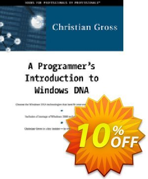 A Programmer's Introduction to Windows DNA (Gross) 프로모션 코드 A Programmer's Introduction to Windows DNA (Gross) Deal 프로모션: A Programmer's Introduction to Windows DNA (Gross) Exclusive Easter Sale offer for iVoicesoft