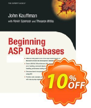 Beginning ASP Databases (Spencer) discount coupon Beginning ASP Databases (Spencer) Deal - Beginning ASP Databases (Spencer) Exclusive Easter Sale offer for iVoicesoft