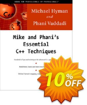 Mike and Phani's Essential C++ Techniques (Hyman) discount coupon Mike and Phani's Essential C++ Techniques (Hyman) Deal - Mike and Phani's Essential C++ Techniques (Hyman) Exclusive Easter Sale offer for iVoicesoft