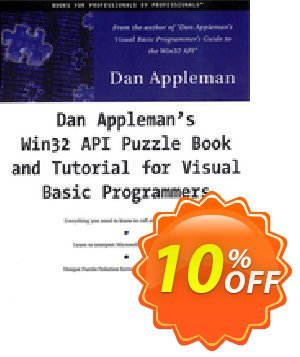 Dan Appleman's Win32 API Puzzle Book and Tutorial for Visual Basic Programmers (Appleman) discount coupon Dan Appleman's Win32 API Puzzle Book and Tutorial for Visual Basic Programmers (Appleman) Deal - Dan Appleman's Win32 API Puzzle Book and Tutorial for Visual Basic Programmers (Appleman) Exclusive Easter Sale offer for iVoicesoft