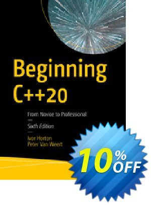 Beginning C++20 (Horton) Coupon discount Beginning C++20 (Horton) Deal. Promotion: Beginning C++20 (Horton) Exclusive Easter Sale offer for iVoicesoft