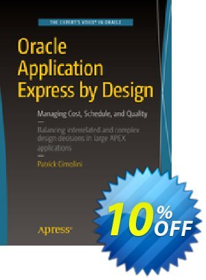 Oracle Application Express by Design (Cimolini) 프로모션 코드 Oracle Application Express by Design (Cimolini) Deal 프로모션: Oracle Application Express by Design (Cimolini) Exclusive Easter Sale offer for iVoicesoft